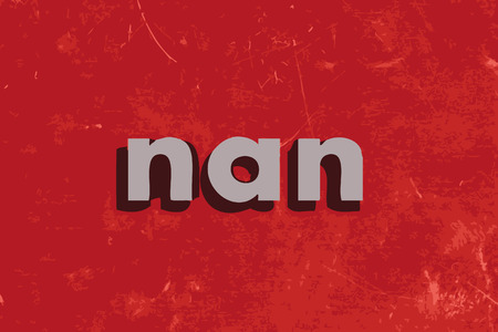 nan: nan vector word on red concrete wall Illustration