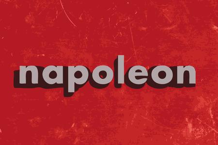 napoleon: napoleon vector woord over de rode betonnen muur