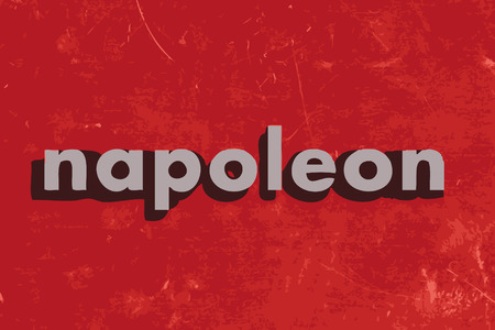 napoleon: napoleon vector word on red concrete wall