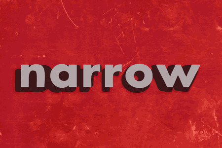 narrow: narrow vector word on red concrete wall