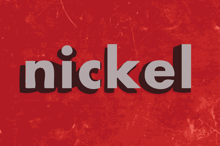 nickel: nickel vector word on red concrete wall Illustration