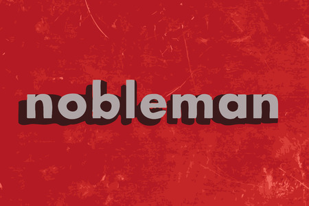 nobleman: nobleman vector word on red concrete wall