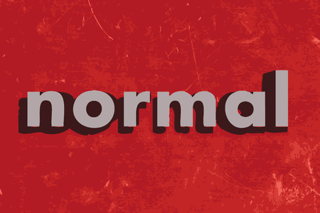 normal: normal vector word on red concrete wall Illustration
