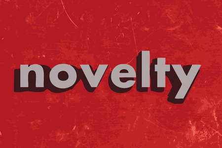 the novelty: novelty vector word on red concrete wall