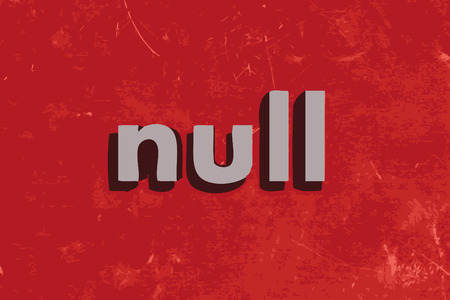 null: null vector word on red concrete wall Illustration