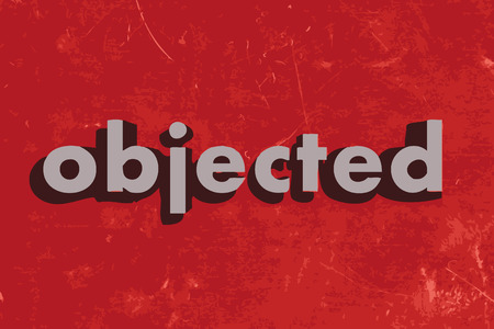 objected: objected vector word on red concrete wall