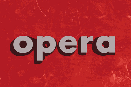 opera: opera vector word on red concrete wall
