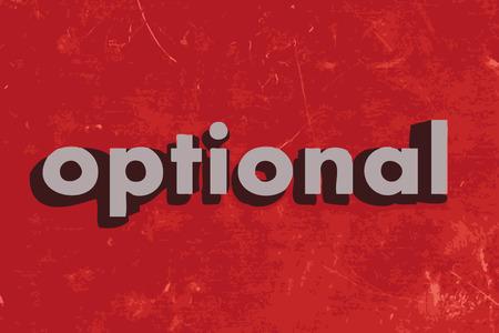optionnel: mot de vecteur option sur mur de b�ton rouge Illustration