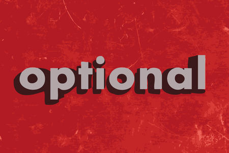 optional: optional vector word on red concrete wall