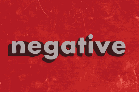 negativity: negative vector word on red concrete wall Illustration