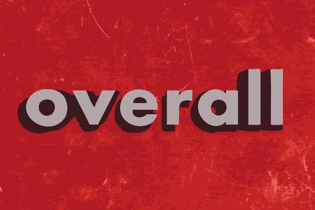 overall: palabra global del vector en rojo muro de hormig�n