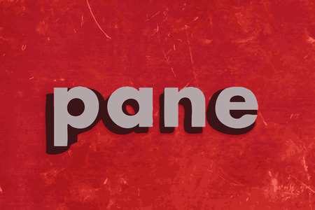pane: pane vector word on red concrete wall