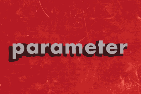 parameter: parameter vector word on red concrete wall