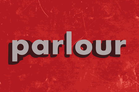 parlour: parlour vector word on red concrete wall