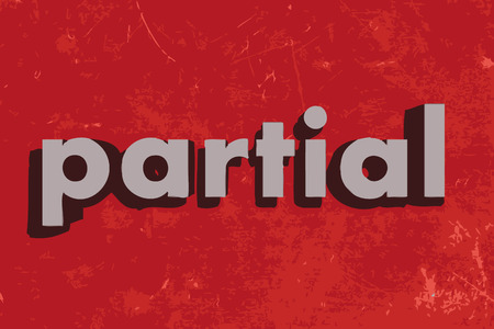partial: partial vector word on red concrete wall Illustration