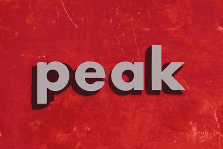 pico: palabra vector pico en la pared roja de hormig�n