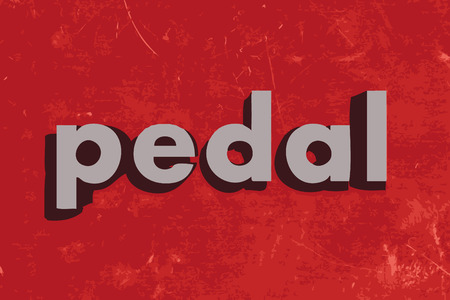 pedal: pedal vector word on red concrete wall Illustration