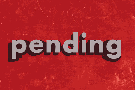 pending: pending vector word on red concrete wall