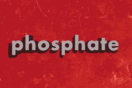 phosphate: phosphate vector word on red concrete wall