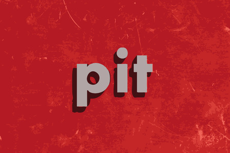 pit: pit vector word on red concrete wall Illustration