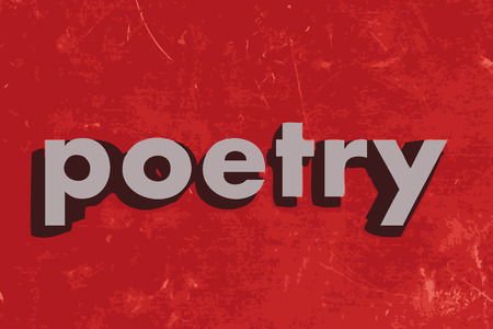 poetry: poetry vector word on red concrete wall