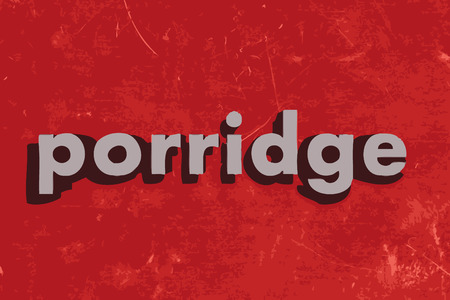 porridge vector word on red concrete wall