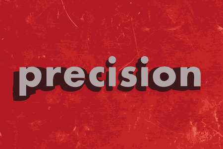 precision: precision vector word on red concrete wall