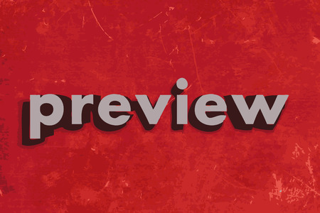 preview: preview vector word on red concrete wall