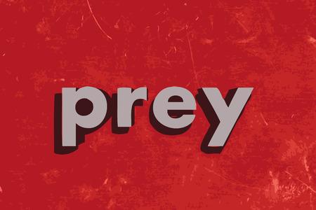 prey: prey vector word on red concrete wall