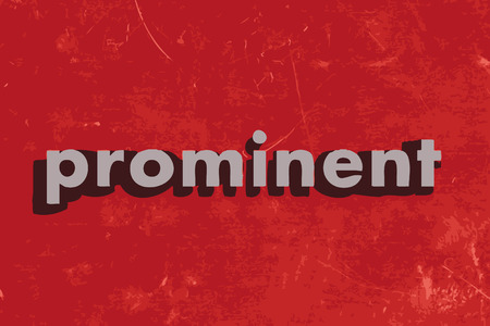 prominent: prominent vector word on red concrete wall Illustration