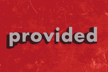 provided: provided vector word on red concrete wall Illustration