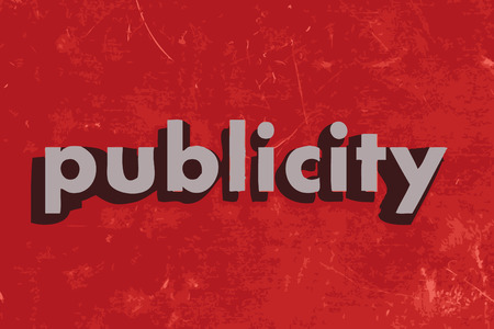 publicity: publicity vector word on red concrete wall Illustration