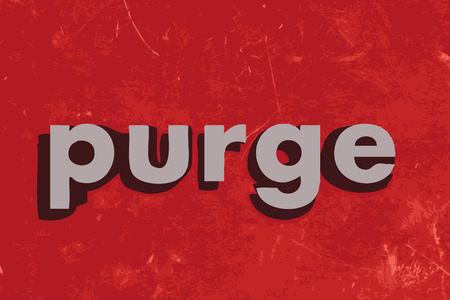 purge: purge vector word on red concrete wall Illustration