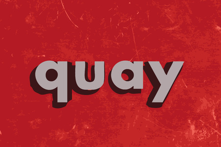 quay: quay vector word on red concrete wall