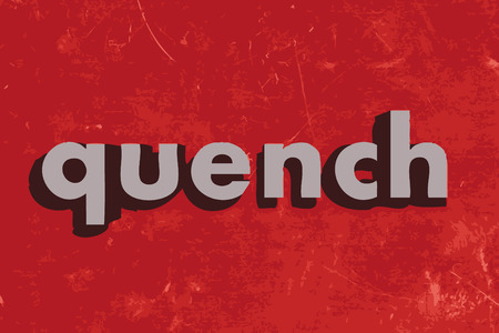 quench: quench vector word on red concrete wall Illustration