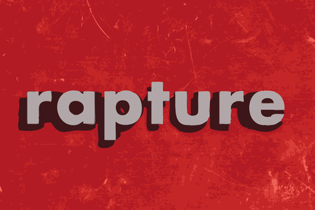 rapture: rapture vector word on red concrete wall