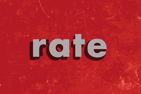 такса: rate vector word on red concrete wall