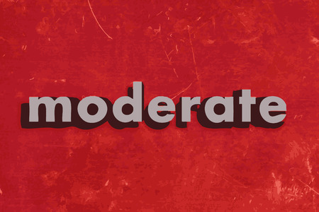 moderate: moderate vector word on red concrete wall