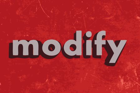 modify: modify vector word on red concrete wall