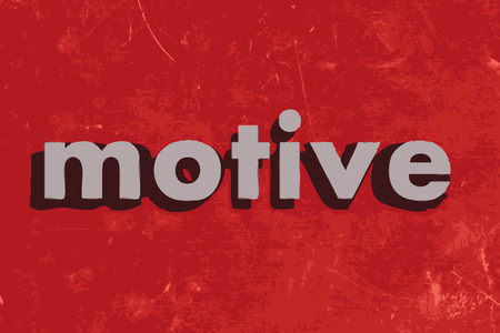 motive: motive vector word on red concrete wall