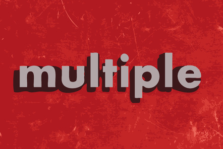 multiple: multiple vector word on red concrete wall
