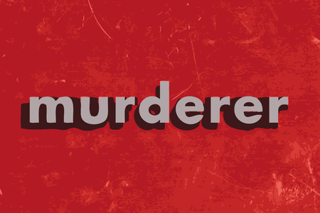 murderer vector word on red concrete wall Illustration