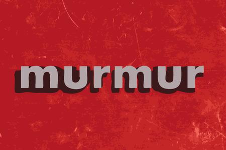 murmur: murmur vector word on red concrete wall