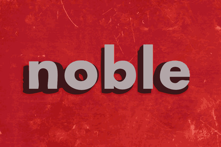 noble: noble vector word on red concrete wall