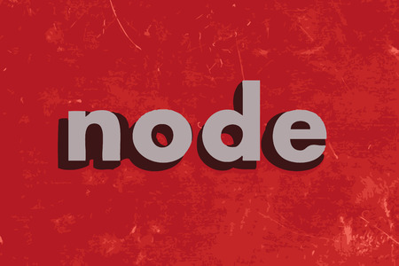 node: node vector word on red concrete wall