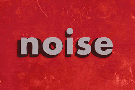 noise vector word on red concrete wall Illustration