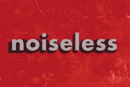 noiseless: noiseless vector word on red concrete wall Illustration