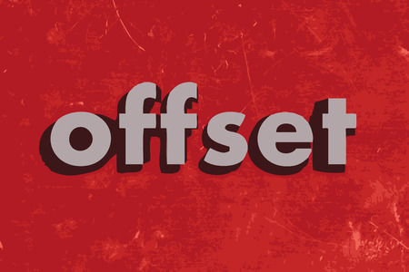 offset: offset vector word on red concrete wall