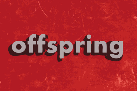 offspring: offspring vector word on red concrete wall Illustration