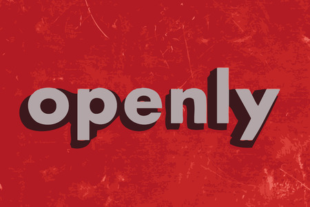 openly: openly vector word on red concrete wall